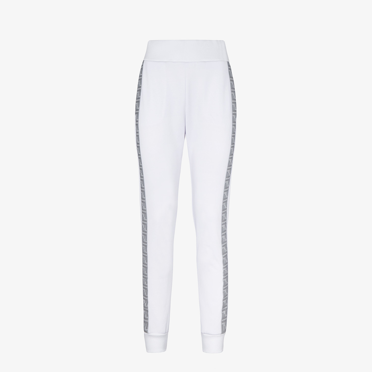 FENDI TROUSERS - White jersey jogging trousers - view 1 detail
