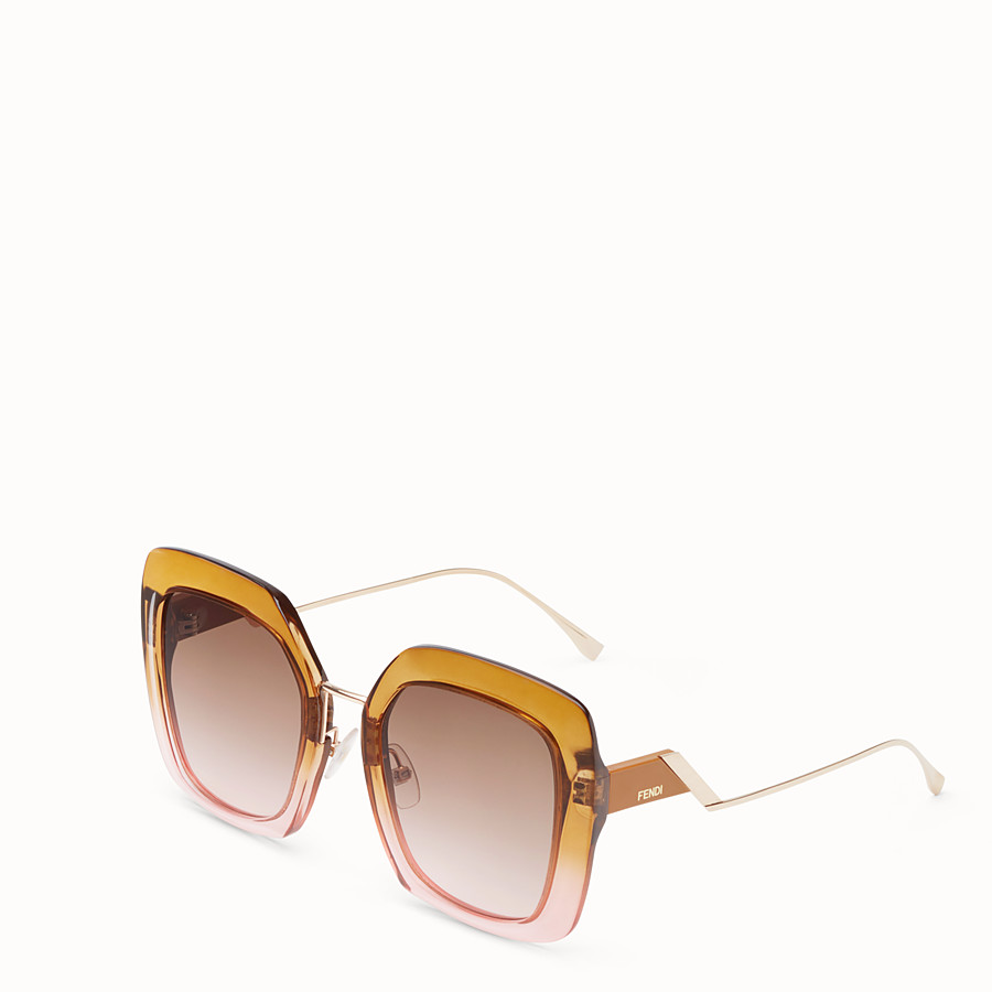 FENDI TROPICAL SHINE - Brown and pink sunglasses - view 2 detail