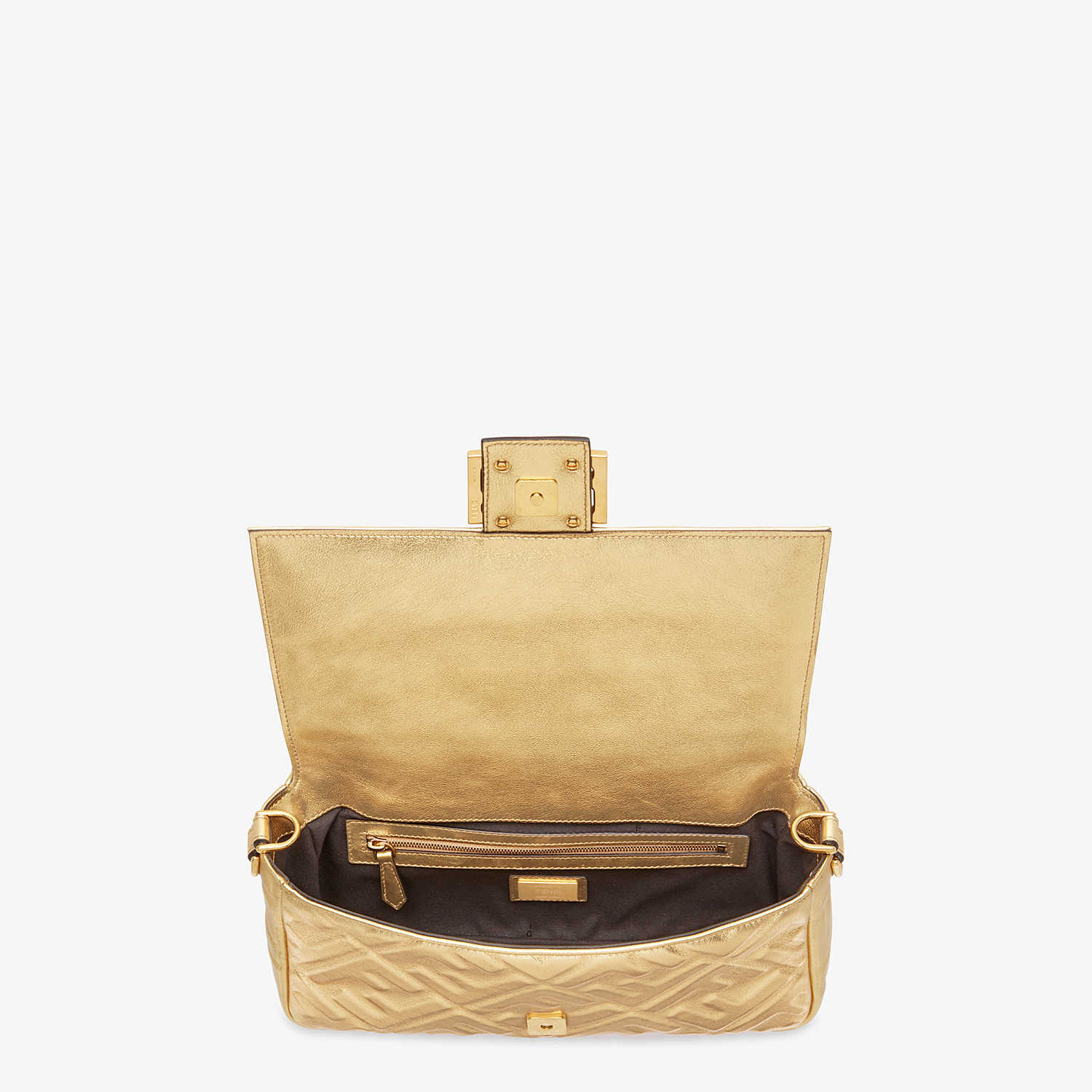 FENDI BAGUETTE - Golden leather bag - view 5 detail