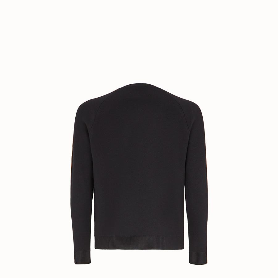 FENDI PULL - Pull en laine noire - view 2 detail