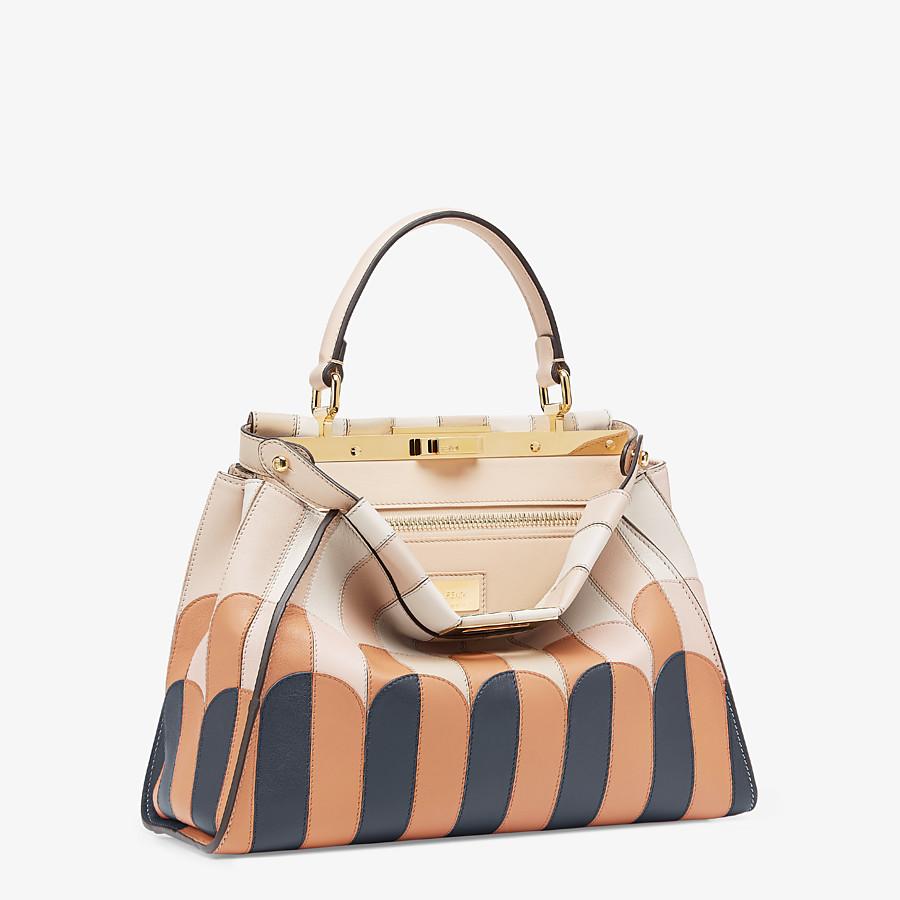 FENDI PEEKABOO ICONIC MEDIUM - Pink leather bag - view 2 detail