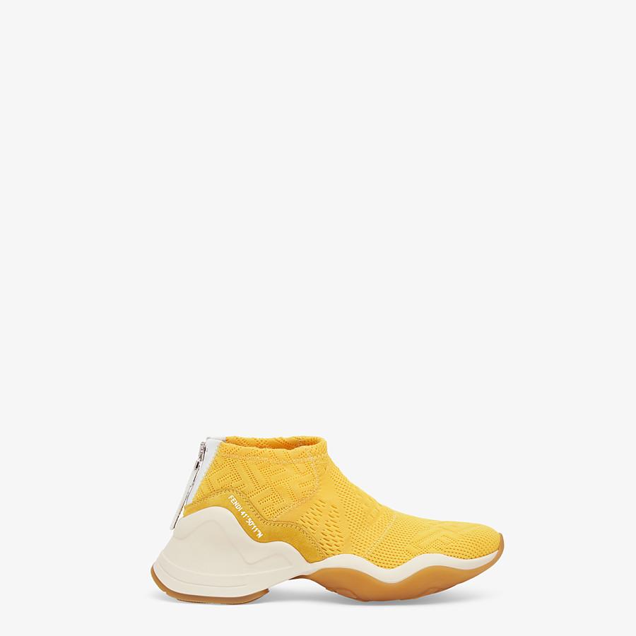 FENDI SNEAKERS - High-tech yellow jacquard sneakers - view 1 detail
