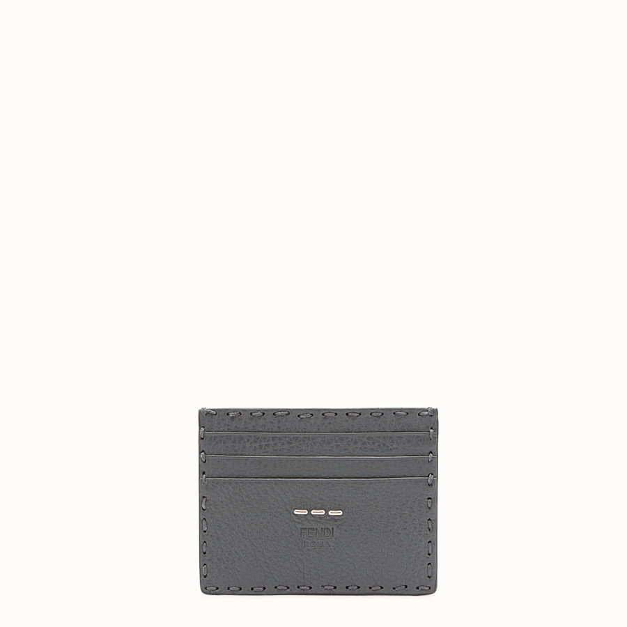 FENDI CARD HOLDER - Selleria 6-slot card holder in grey - view 1 detail