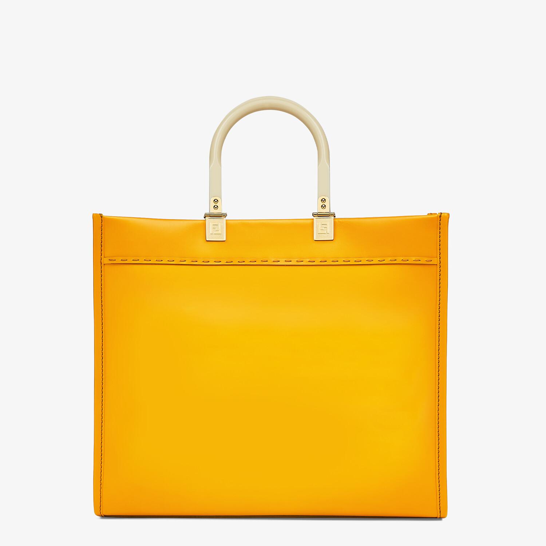 FENDI FENDI SUNSHINE MEDIUM - Orange leather shopper - view 3 detail