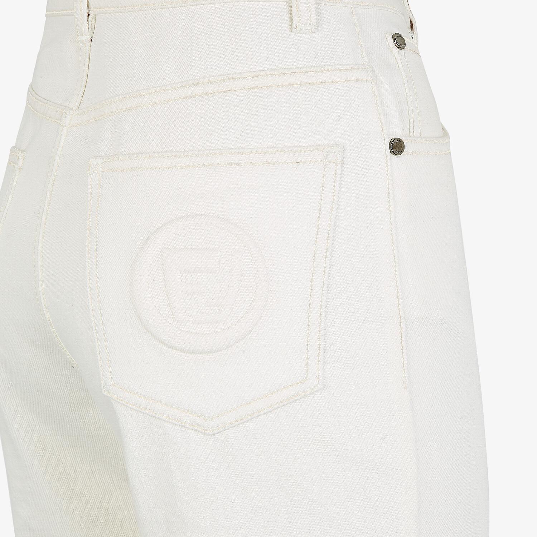 FENDI PANTS - White denim jeans - view 3 detail