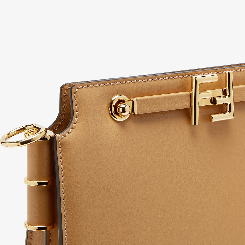 FENDI FENDI TOUCH - Beige leather bag - view 6 detail