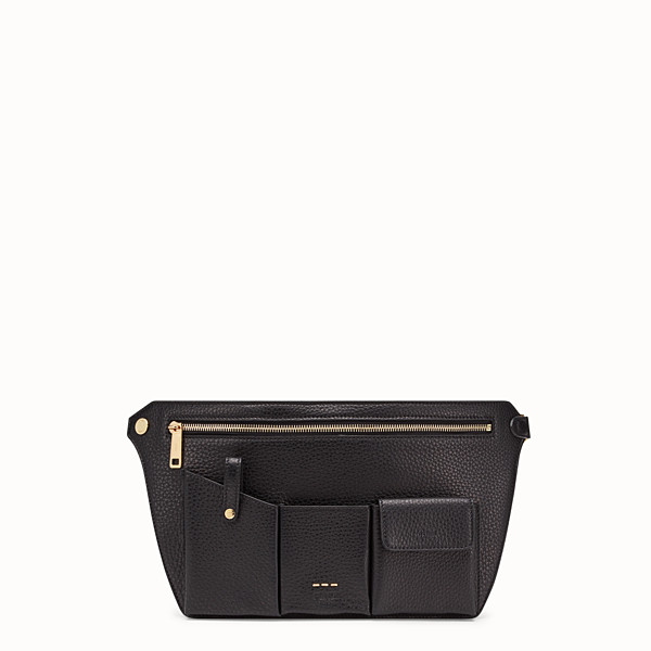 FENDI POUCH - Black leather cross-body bag - view 1 small thumbnail