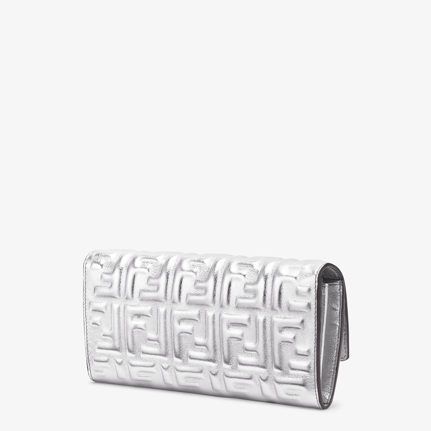 FENDI CONTINENTAL - Silver leather wallet - view 2 detail