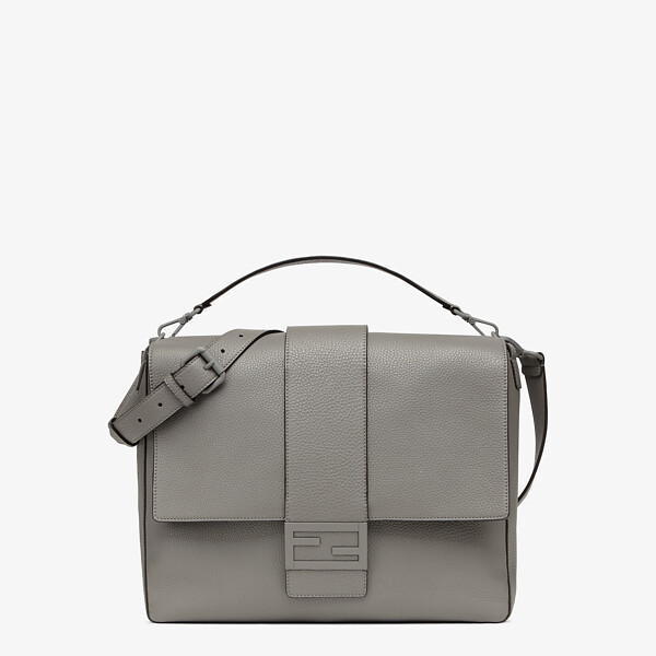 Light grey leather bag