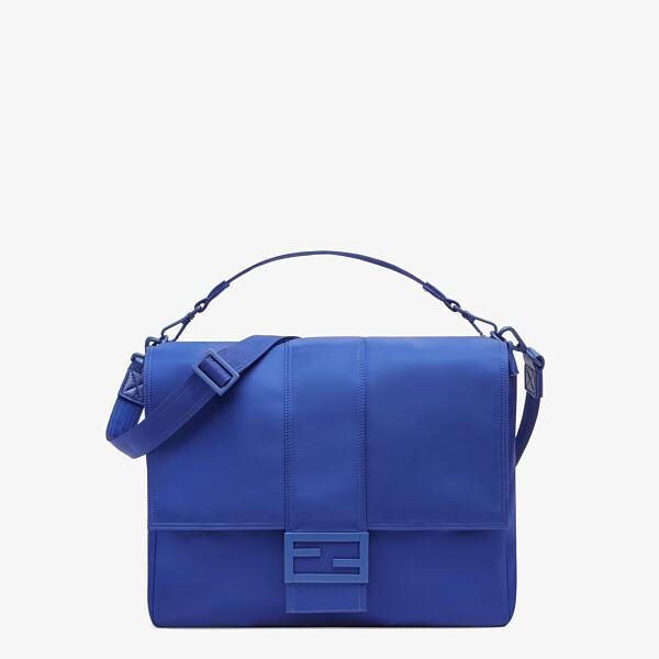 Blue nylon bag