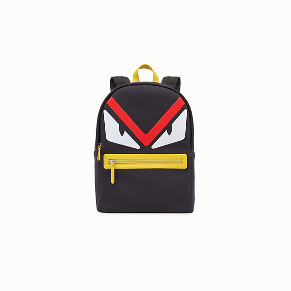 FENDI BABY BACKPACK - Black and yellow backpack - view 1 small thumbnail