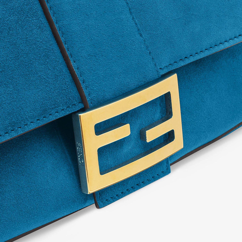 FENDI BAGUETTE - Blue suede bag - view 5 detail