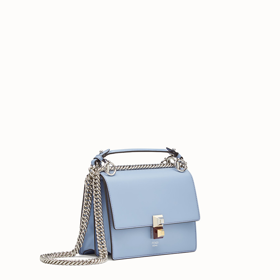 FENDI KAN I SMALL - Mini-sac en cuir bleu clair - view 2 detail