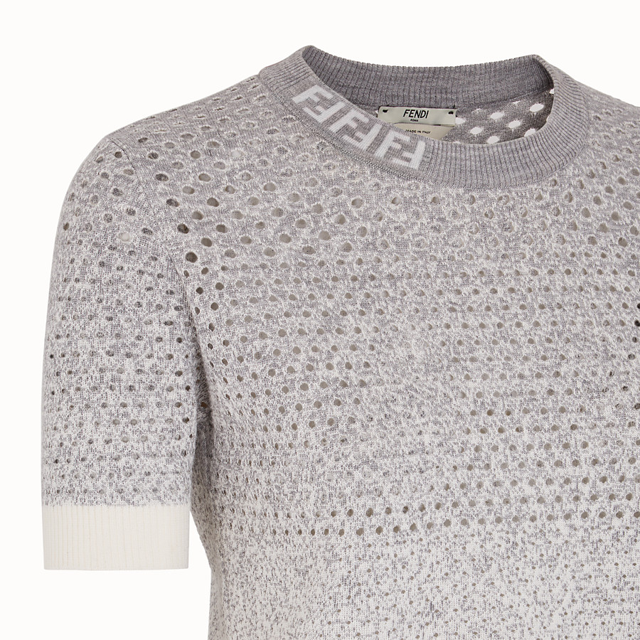 FENDI PULLOVER - Pullover aus Wolle in Grau - view 3 detail