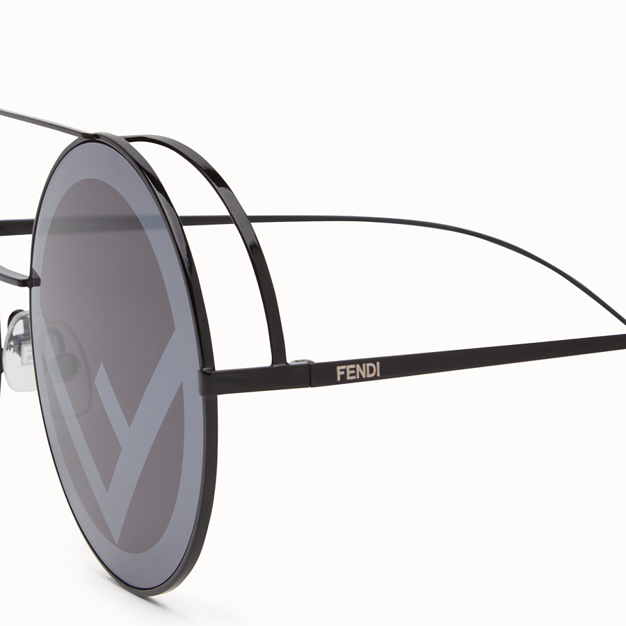 FENDI RUN AWAY - Black sunglasses - view 3 detail