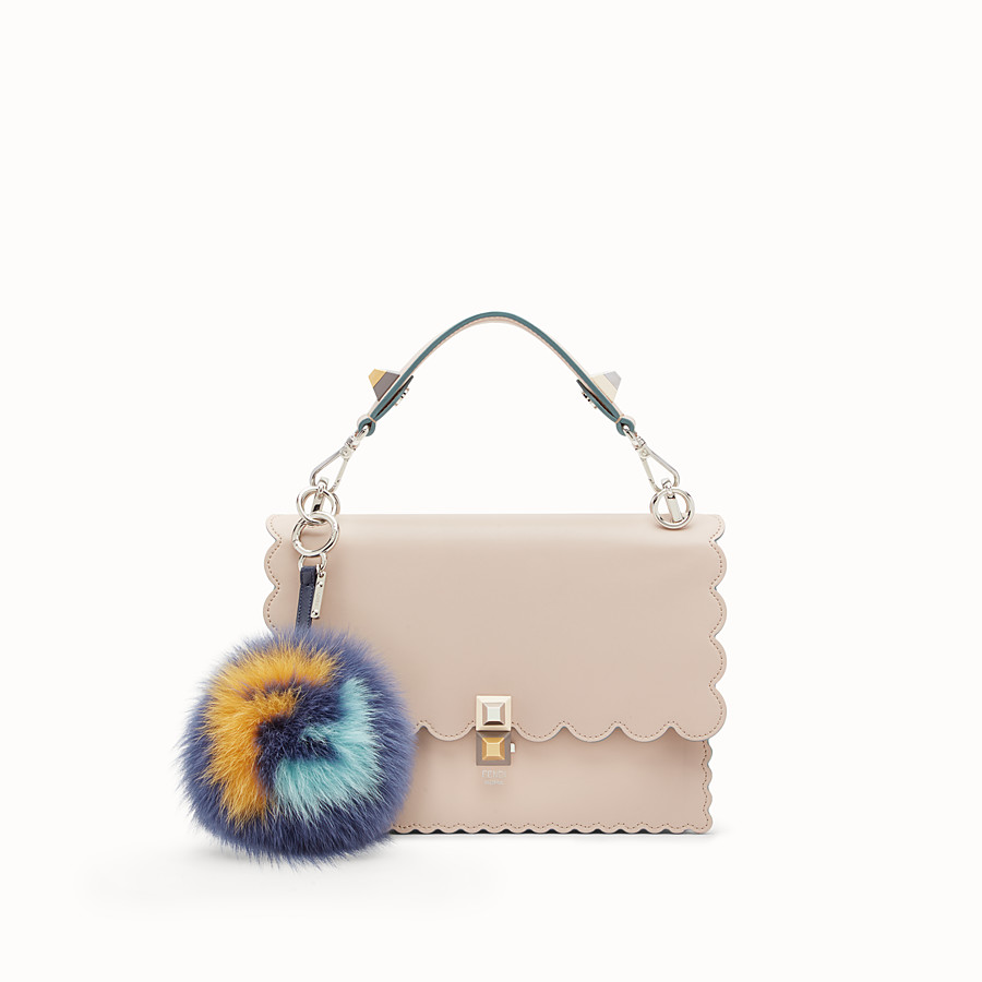 FENDI POM-POM CHARM - Multicolour fur charm - view 2 detail