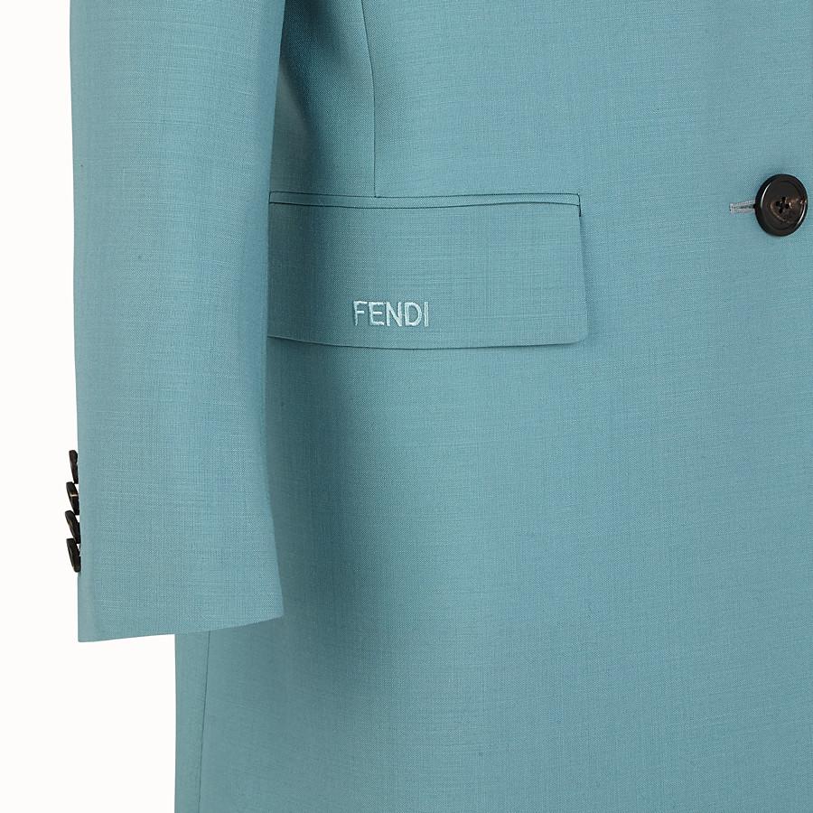 FENDI COAT - Light blue kid mohair coat - view 3 detail