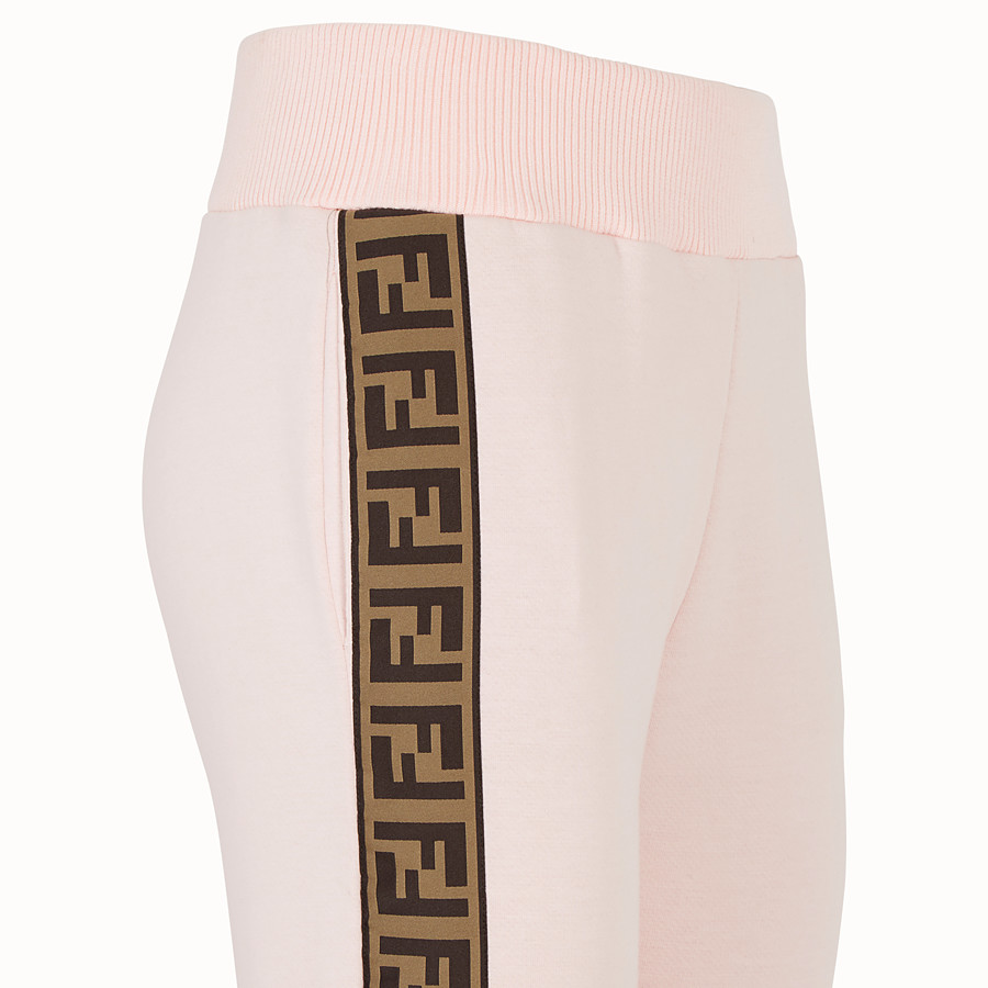 FENDI TROUSERS - Pink fabric tracksuit trousers - view 3 detail