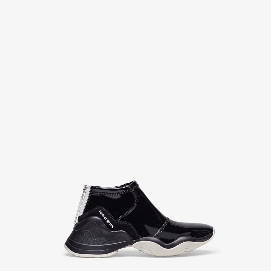 FENDI SNEAKERS - Sneakers in glossy black neoprene - view 1 detail