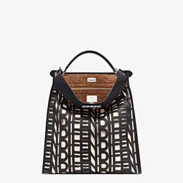 FENDI PEEKABOO X-LITE FIT - Black leather bag - view 2 thumbnail