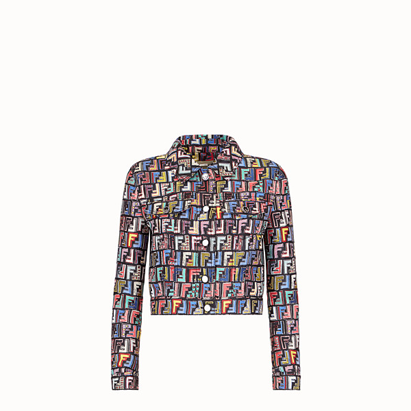 FENDI JACKET - Multicolour jacquard fabric jacket - view 1 small thumbnail