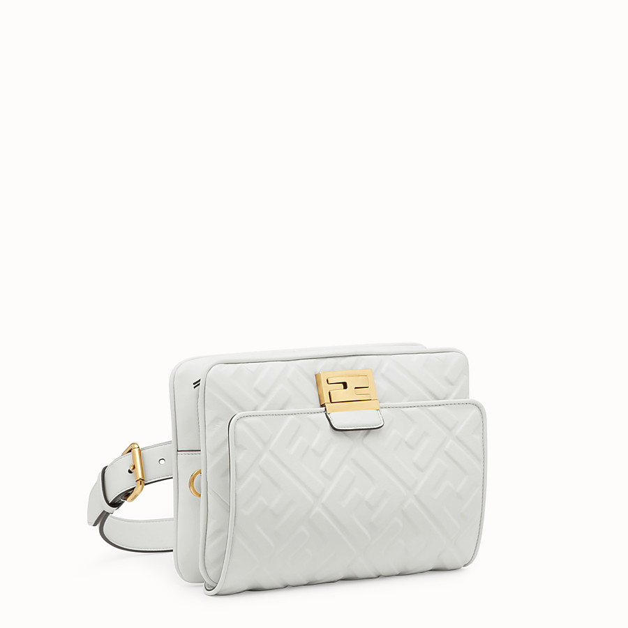 FENDI UPSIDE DOWN - Sac en cuir blanc - view 3 detail