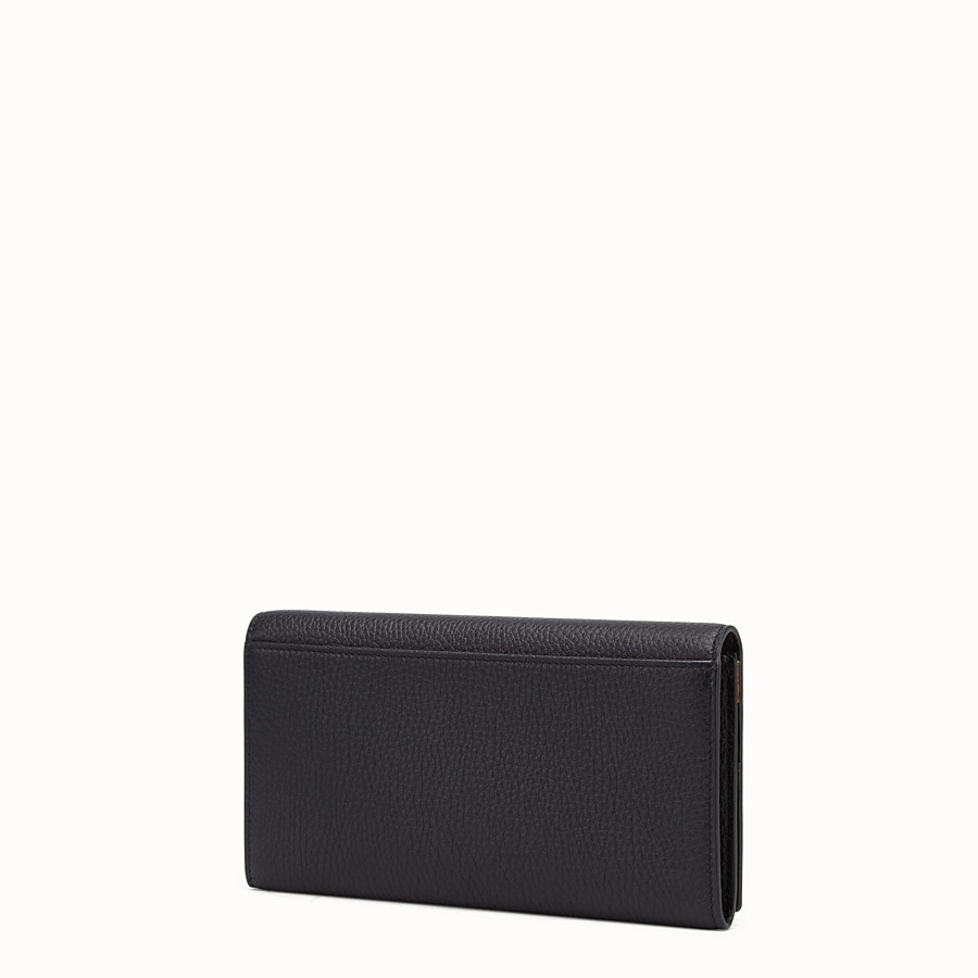 FENDI CONTINENTAL - Black leather wallet - view 2 detail