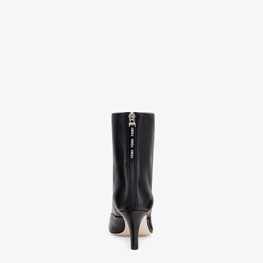 FENDI ANKLE BOOTS - Booties in black leather - view 3 detail