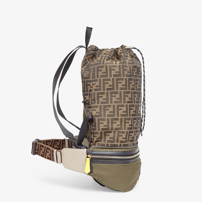 FENDI BACKPACK - Green nylon backpack - view 2 detail