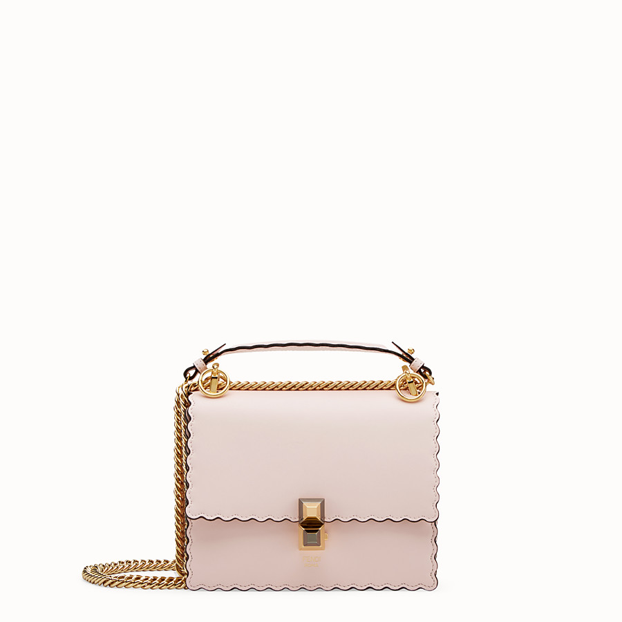 590f403ff63b Pink leather mini-bag - KAN I SMALL