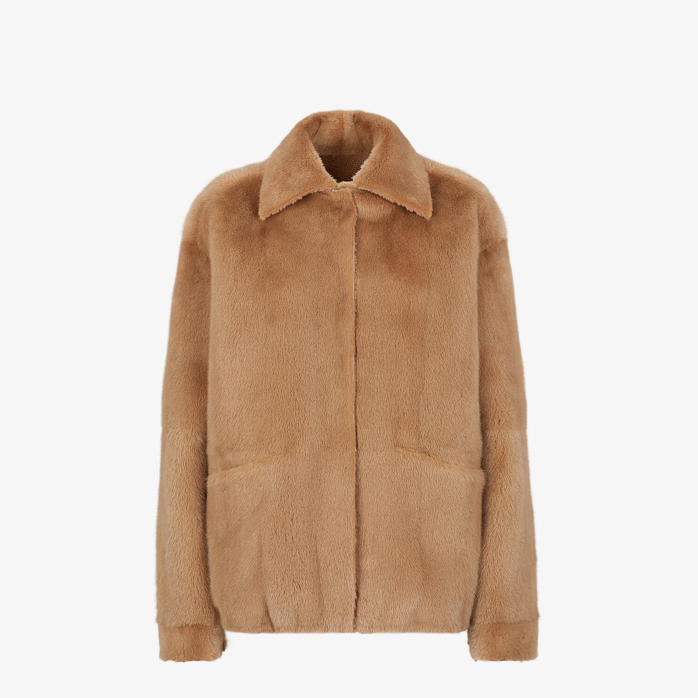 FENDI JACKET - Brown mink jacket - view 4 detail