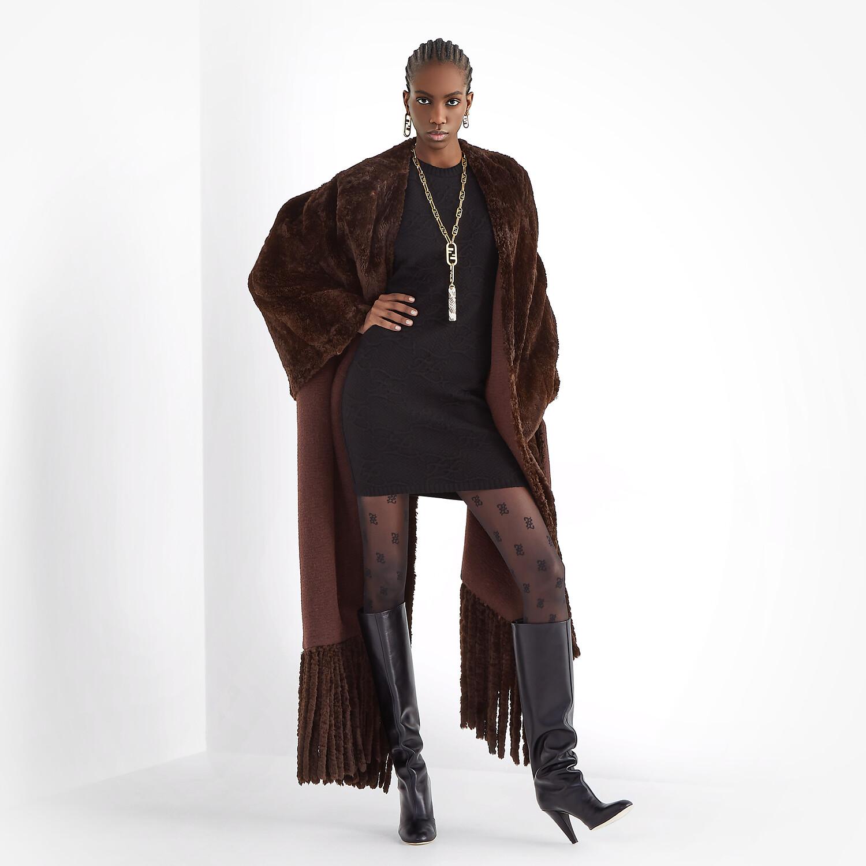 FENDI DRESS - Black wool and cashmere dress - view 4 detail