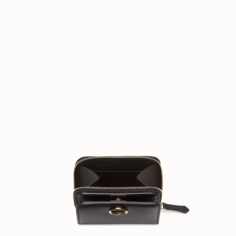 FENDI MEDIUM ZIP-AROUND - Black leather wallet - view 3 detail