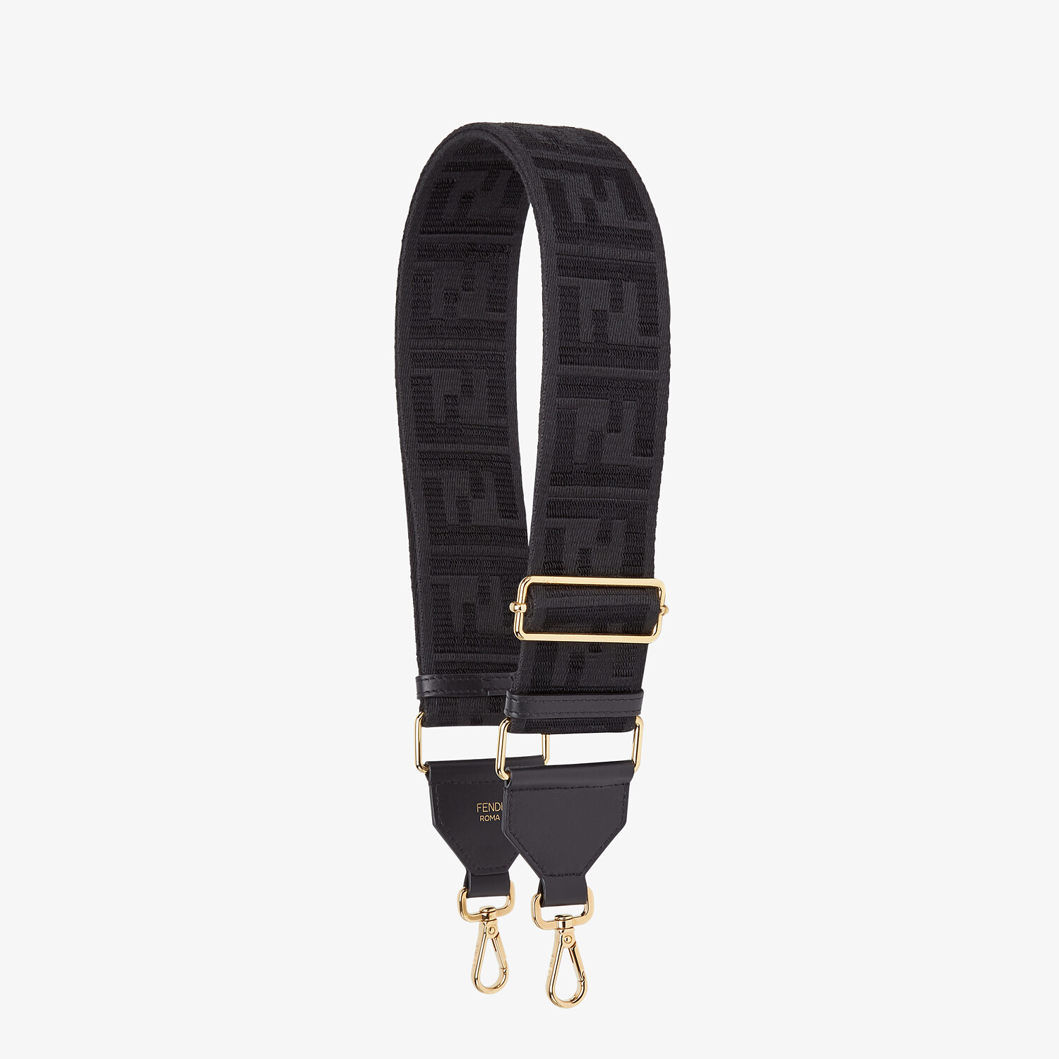 FENDI STRAP YOU - Black ribbon shoulder strap - view 1 detail