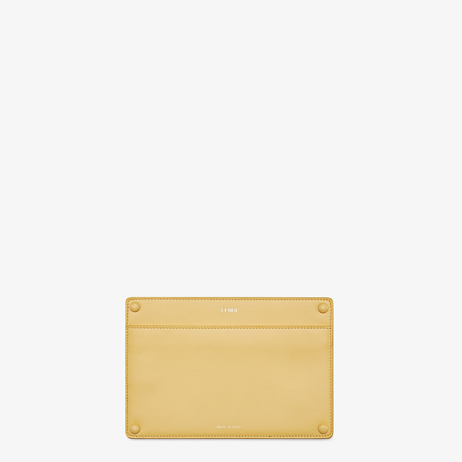 FENDI PEEKABOO ISEEU POCKET - Accessory pocket in yellow leather - view 1 detail