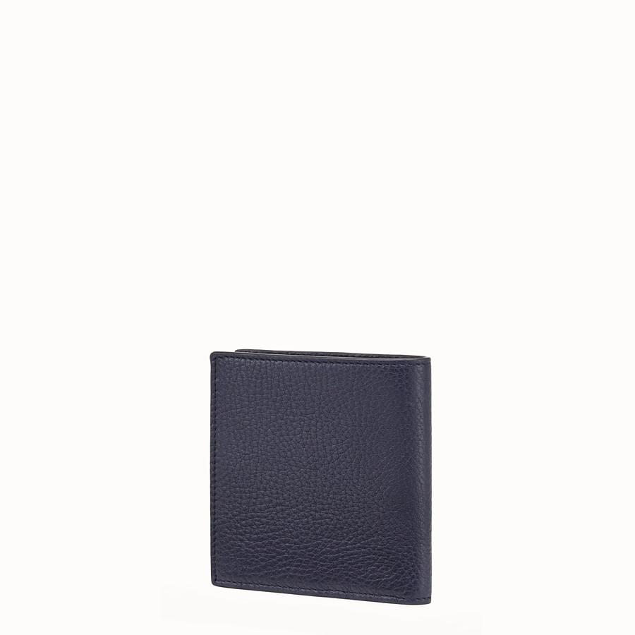 FENDI WALLET - Blue leather bi-fold wallet - view 2 detail
