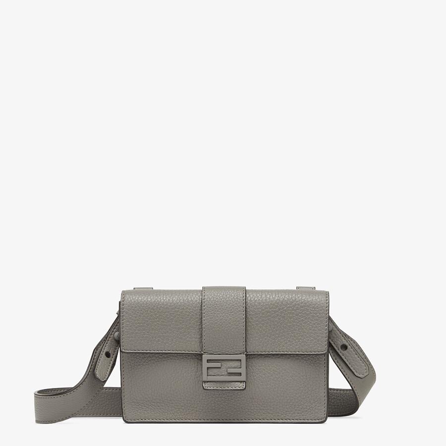 FENDI BAGUETTE POUCH - Gray leather bag - view 1 detail