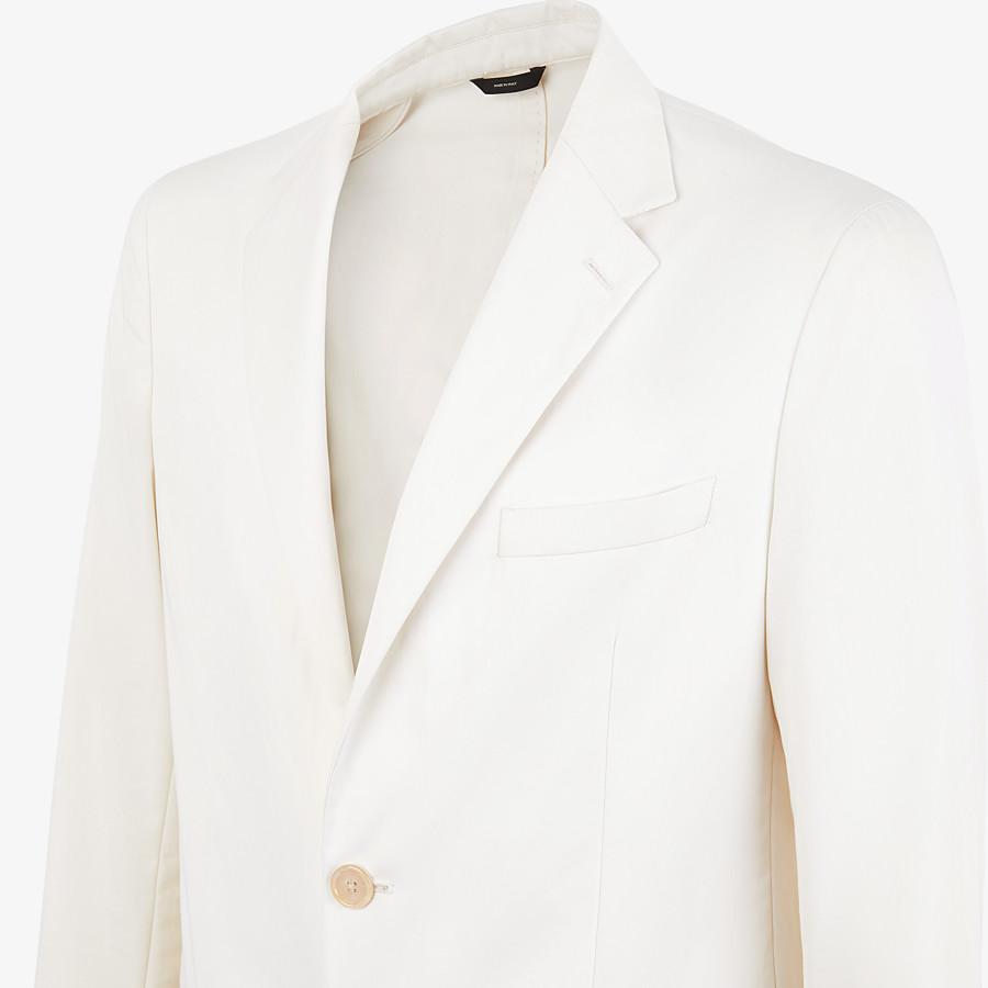 FENDI JACKET - White cotton blazer - view 4 detail