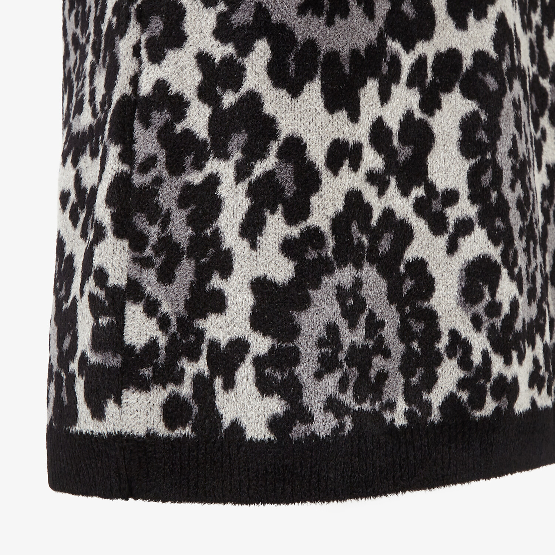FENDI SKIRT - Gray knit skirt - view 3 detail