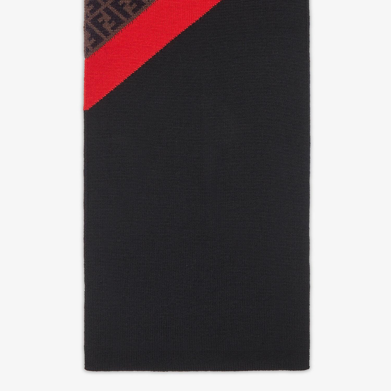FENDI SCARF - Multicolour wool scarf - view 2 detail