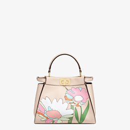 FENDI PEEKABOO ICONIC MINI - Pink leather bag - view 1 thumbnail