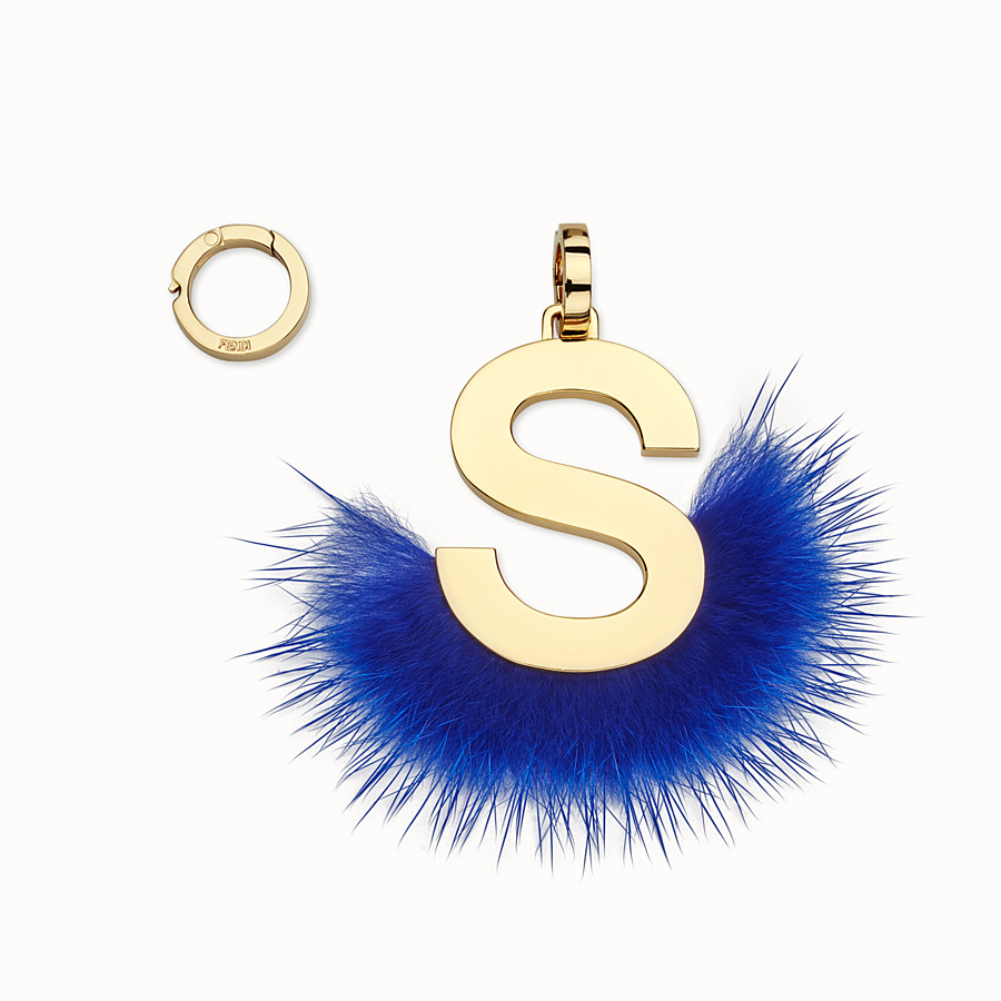 FENDI ABCLICK S - Pendant with blue fur - view 1 detail