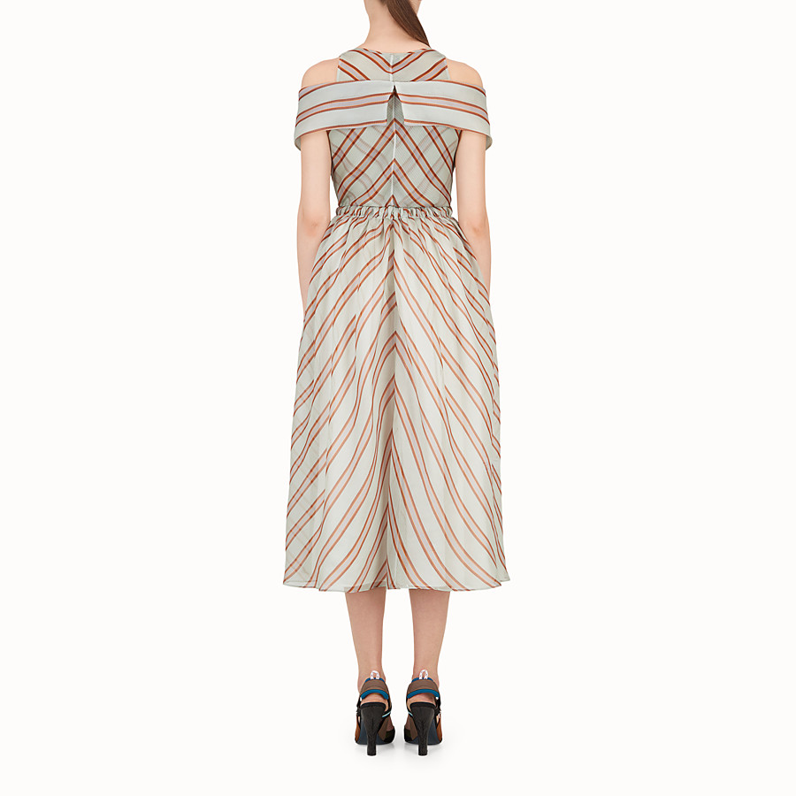 FENDI DRESS - Light green silk gauze dress - view 2 detail