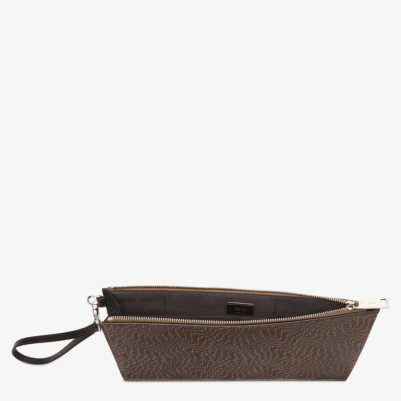 FENDI FLAT POUCH - Brown leather bag - view 3 detail