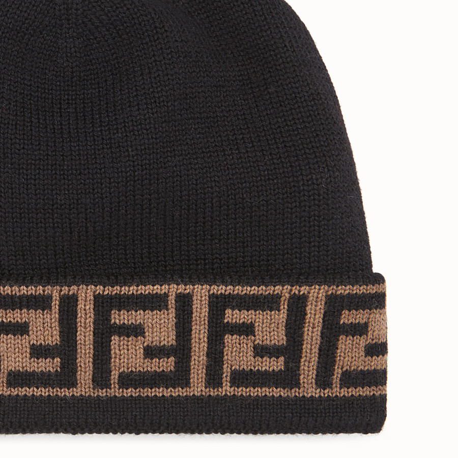 FENDI HAT - Black wool hat - view 2 detail
