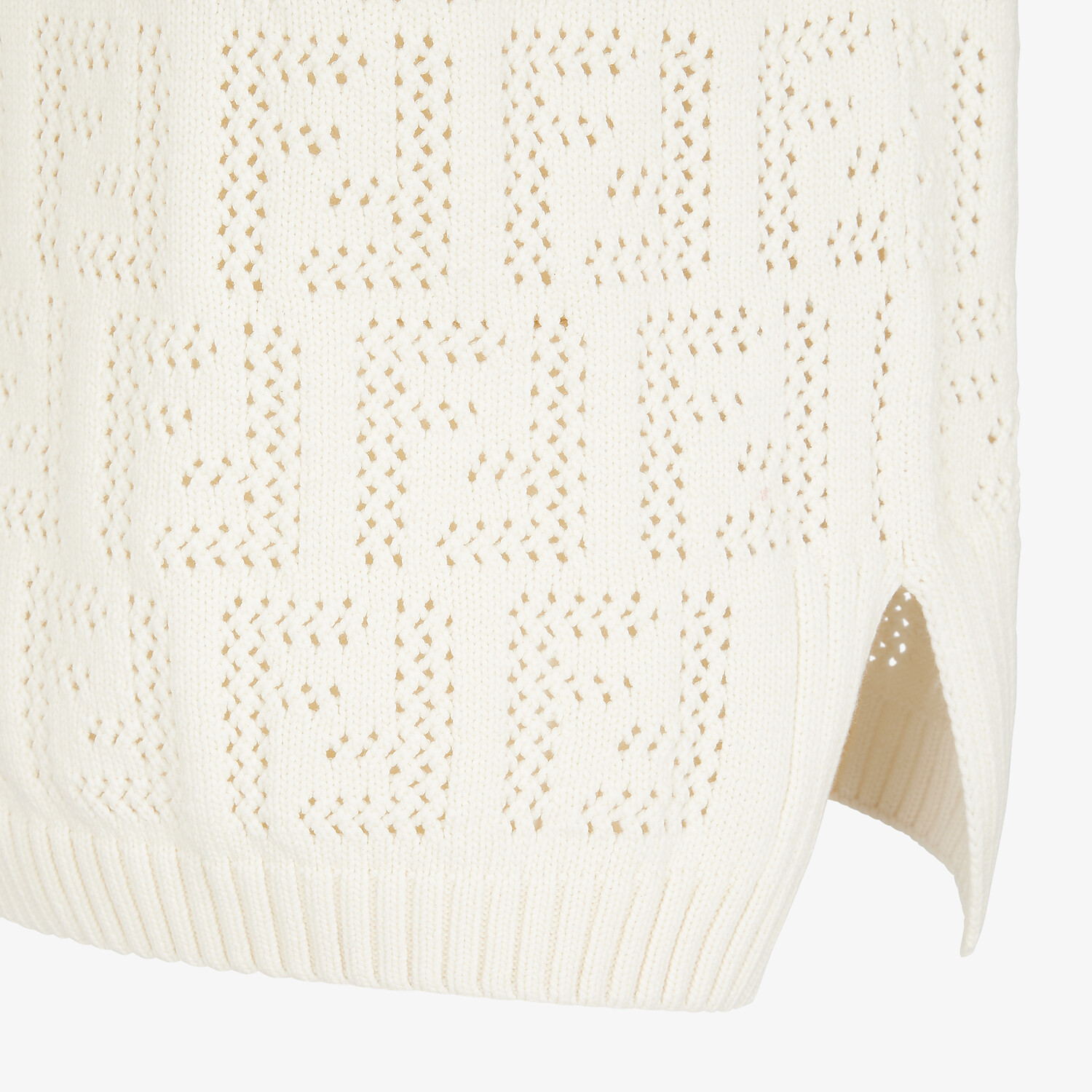 FENDI TANK TOP - White cotton tank top - view 3 detail