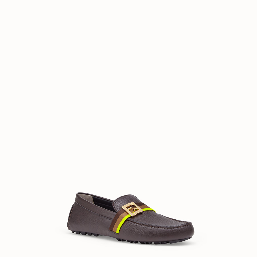 FENDI LOAFER - Loafer aus Leder in Schwarz - view 2 detail