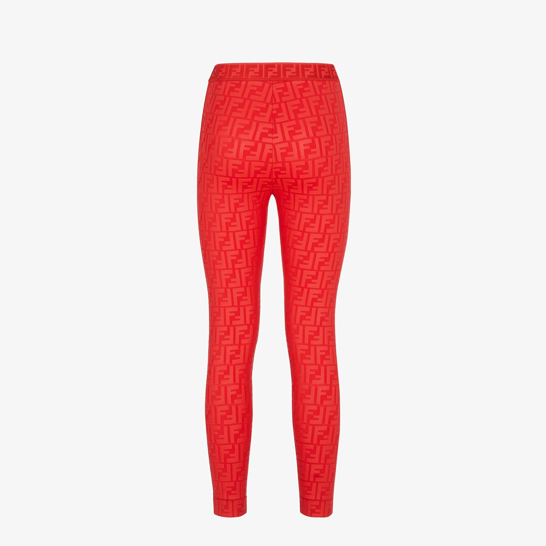 FENDI LEGGINGS - Red tech fabric leggings - view 2 detail