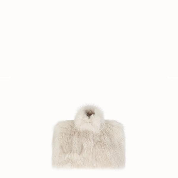 FENDI CAPE - White fur cape - view 1 small thumbnail