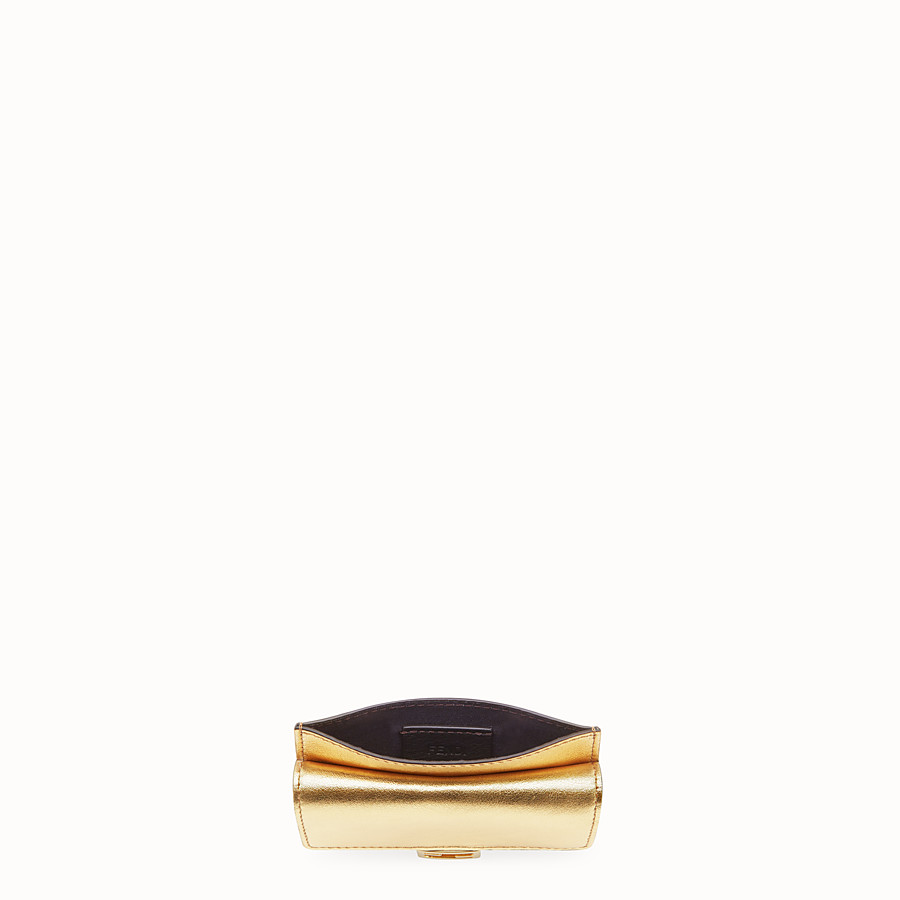 FENDI CARD HOLDER - Gold leather cardholder - view 4 detail